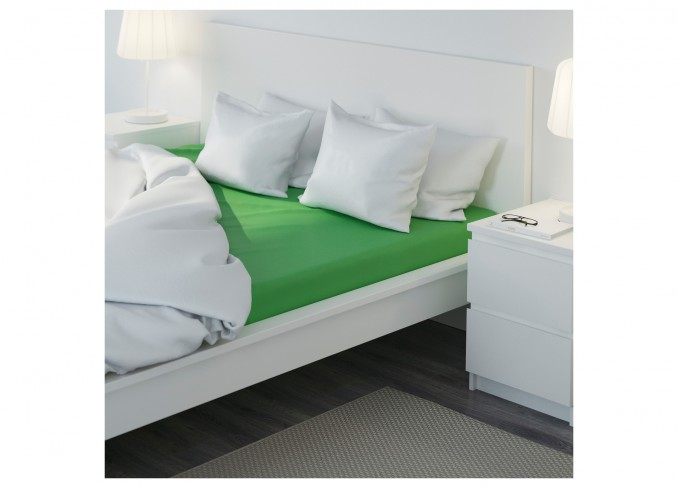 Ikea DVALA Fitted sheet (green) gallery 2